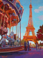 Eiffel Tower Carousel by Nick Paciorek