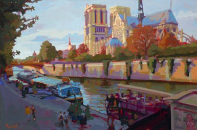 Notre Dame Stroll by Nick Paciorek